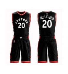 Women's Toronto Raptors #20 Rondae Hollis-Jefferson Swingman Black Basketball Suit Jersey Statement Edition