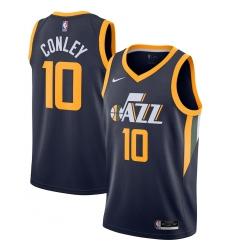 Men's Utah Jazz #10 Mike Conley Nike Navy 2020-21 Swingman Jersey