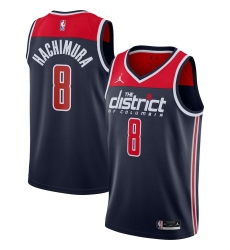 Men's Washington Wizards #8 Rui Hachimura Jordan Brand Navy 2020-21 Swingman Player Jersey