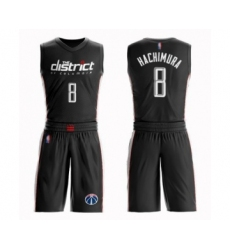 Men's Washington Wizards #8 Rui Hachimura Swingman Black Basketball Suit Jersey - City Edition