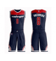Men's Washington Wizards #8 Rui Hachimura Swingman Navy Blue Basketball Suit Jersey Statement Edition