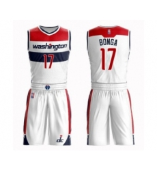 Men's Washington Wizards #17 Isaac Bonga Authentic White Basketball Suit Jersey - Association Edition