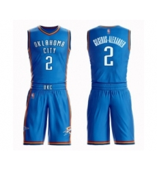 Men's Oklahoma City Thunder #2 Shai Gilgeous-Alexander Swingman Royal Blue Basketball Suit Jersey - Icon Edition