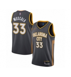 Men's Oklahoma City Thunder #33 Mike Muscala Swingman Charcoal Basketball Jersey - 2019-20 City Edition
