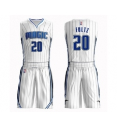 Men's Orlando Magic #20 Markelle Fultz Swingman White Basketball Suit Jersey - Association Edition