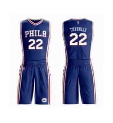 Men's Philadelphia 76ers #22 Mattise Thybulle Authentic Blue Basketball Suit Jersey - Icon Edition