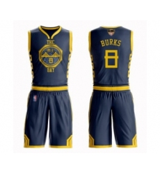 Women's Golden State Warriors #8 Alec Burks Swingman Navy Blue Basketball Suit Jersey - City Edition