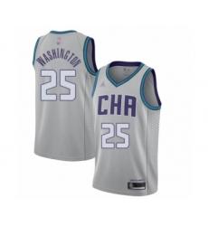 Men's Jordan Charlotte Hornets #25 PJ Washington Swingman Gray Basketball Jersey - 2019 20 City Edition