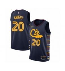 Men's Cleveland Cavaliers #20 Brandon Knight Swingman Navy Basketball Jersey - 2019 20 City Edition