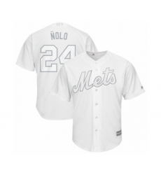 Men's New York Mets #24 Robinson Cano  Nolo  Authentic White 2019 Players Weekend Baseball Jersey