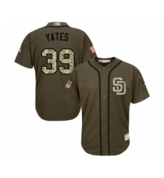 Youth San Diego Padres #39 Kirby Yates Authentic Green Salute to Service Cool Base Baseball Jersey