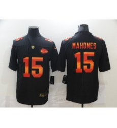 Men's Kansas City Chiefs #15 Patrick Mahomes Black colorful Nike Limited Jersey