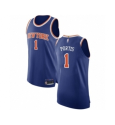 Men's New York Knicks #1 Bobby Portis Authentic Royal Blue Basketball Jersey - Icon Edition