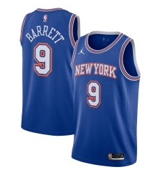 Men's New York Knicks #9 R.J. Barrett Jordan Brand Blue 2020-21 Swingman Jersey