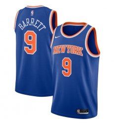 Men's New York Knicks #9 RJ Barrett Nike Blue 2020-21 Swingman Jersey
