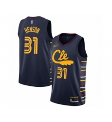 Men's Cleveland Cavaliers #31 John Henson Swingman Navy Basketball Jersey - 2019 20 City Edition