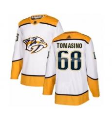 Men's Nashville Predators #68 Philip Tomasino Authentic White Away Hockey Jersey
