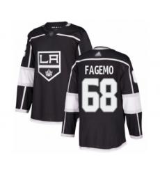 Men's Los Angeles Kings #68 Samuel Fagemo Authentic Black Home Hockey Jersey