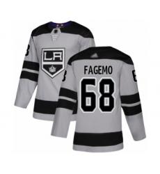 Men's Los Angeles Kings #68 Samuel Fagemo Authentic Gray Alternate Hockey Jersey