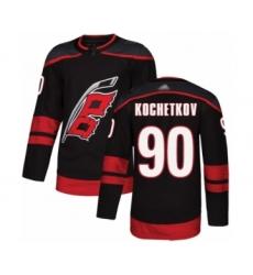 Men's Carolina Hurricanes #90 Pyotr Kochetkov Authentic Black Alternate Hockey Jersey
