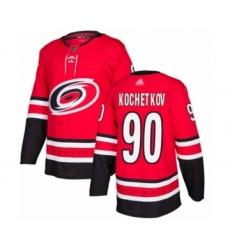 Men's Carolina Hurricanes #90 Pyotr Kochetkov Authentic Red Home Hockey Jersey