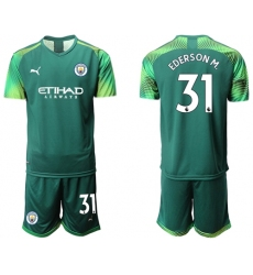 Manchester City #31 Ederson M. Army Green Goalkeeper Soccer Club Jersey