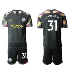 Manchester City #31 Ederson M. Black Goalkeeper Soccer Club Jersey