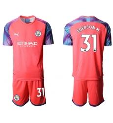 Manchester City #31 Ederson M. Pink Goalkeeper Soccer Club Jersey