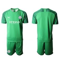 Manchester City Blank Green Goalkeeper Soccer Club Jersey