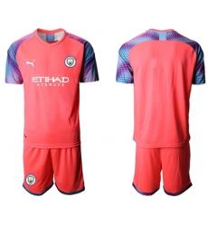 Manchester City Blank Pink Goalkeeper Soccer Club Jersey