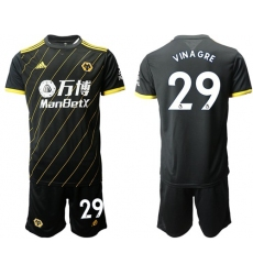 Wolves #29 Vinagre Away Soccer Club Jersey