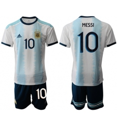 Argentina #10 Messi Home Soccer Country Jersey