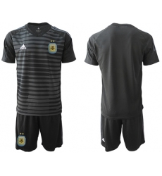 Argentina Blank Black Goalkeeper Soccer Country Jersey1
