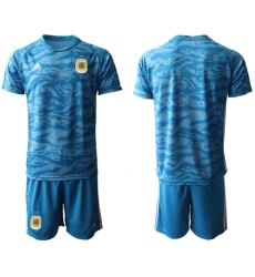 Argentina Blank Blue Goalkeeper Soccer Country Jersey