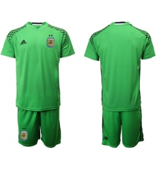 Argentina Blank Green Goalkeeper Soccer Country Jersey1