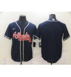 Men's Nike Atlanta Braves Blank Blue Jersey