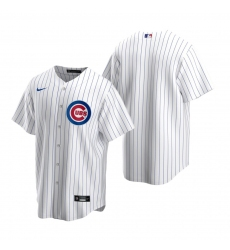 Men's Nike Chicago Cubs Blank White Home Stitched Baseball Jersey