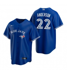 Men's Nike Toronto Blue Jays #22 Chase Anderson Royal Alternate Stitched Baseball Jersey