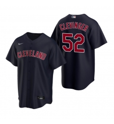 Men's Nike Cleveland Indians #52 Mike Clevinger Navy Alternate Stitched Baseball Jersey