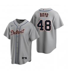 Men's Nike Detroit Tigers #48 Matthew Boyd Gray Road Stitched Baseball Jersey