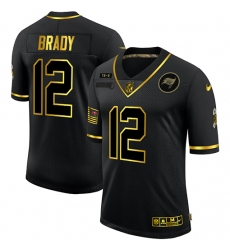Men's Tampa Bay Buccaneers #12 Tom Brady Olive Gold Nike 2020 Salute To Service Limited Jersey