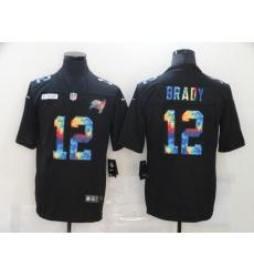 Men's Tampa Bay Buccaneers #12 Tom Brady Rainbow Version Nike Limited Jersey