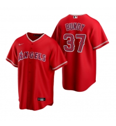 Men's Nike Los Angeles Angels #37 Dylan Bundy Red Alternate Stitched Baseball Jersey