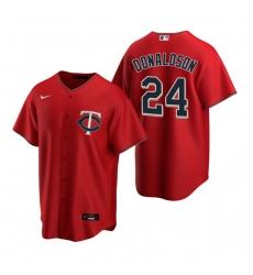 Men's Nike Minnesota Twins #24 Josh Donaldson Red Alternate Stitched Baseball Jersey