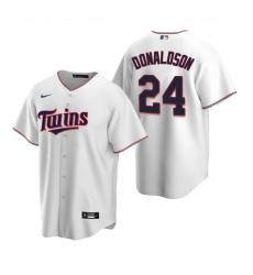 Men's Nike Minnesota Twins #24 Josh Donaldson White Home Stitched Baseball Jersey