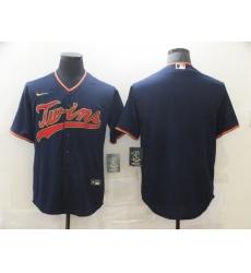 Men's Nike Minnesota Twins Blank Navy Alternate Stitched Baseball Jersey