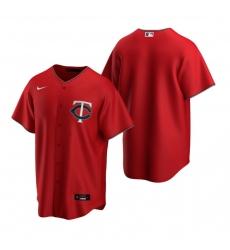 Men's Nike Minnesota Twins Blank Red Alternate Stitched Baseball Jersey
