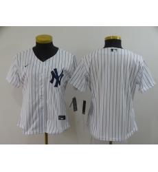 Women's Nike New York Yankees Blank White Home Stitched Baseball Jersey