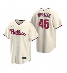 Men's Nike Philadelphia Phillies #45 Zack Wheeler Cream Alternate Stitched Baseball Jersey