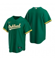 Men's Nike Oakland Athletics Blank Green Alternate Stitched Baseball Jersey
